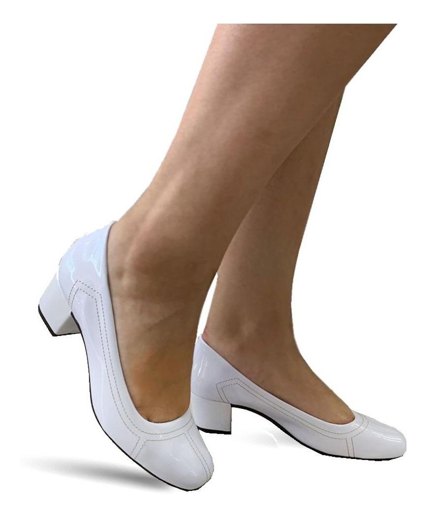 32a54bdb8 Sapato Social Salto Baixo Grosso Feminino Confortável 810 - R$ 67,99 ...