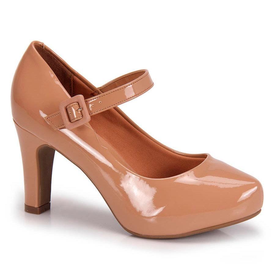 fa9c0f0130 sapato social scarpin vizzano boneca verniz nude. Carregando zoom.