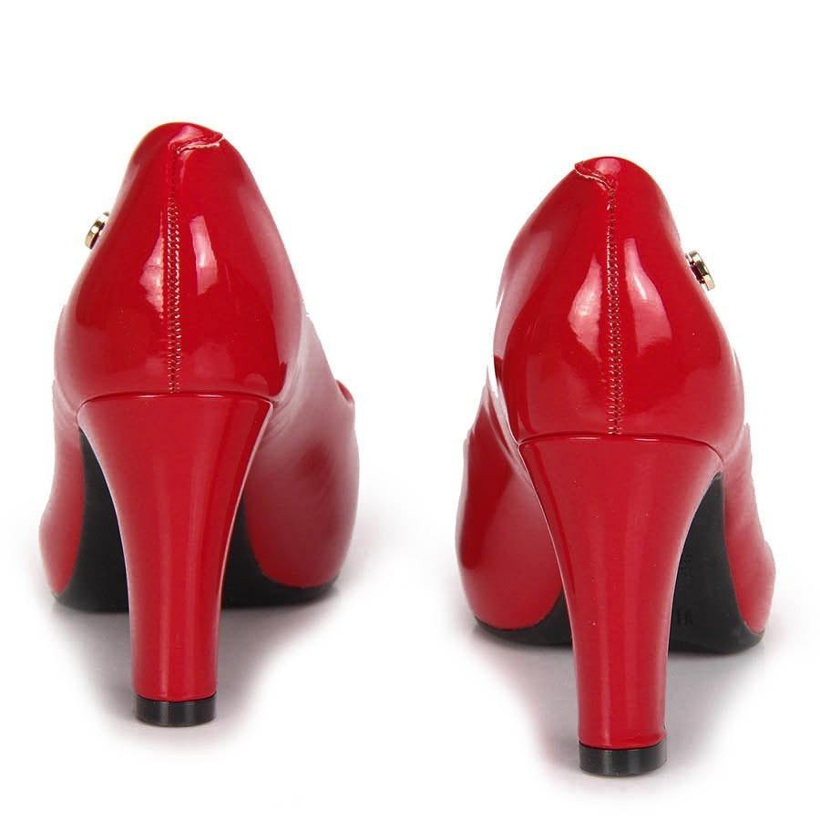 a0b6a8d38c sapato social scarpin vizzano vermelho verniz. Carregando zoom.