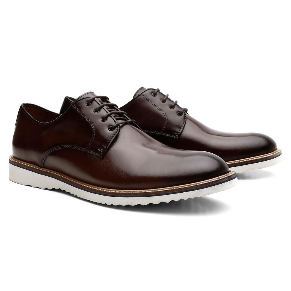 560aa92597 sapato social tratorado cadarço oxford derby masculino. Carregando zoom.