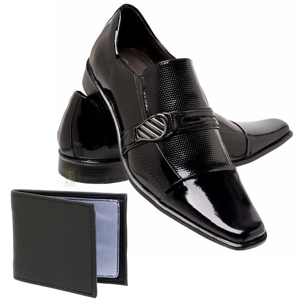 e9da796e4a9d0 Sapato Social Verniz Gofer Couro Legitimo + Brinde - R$ 169,40 em ...