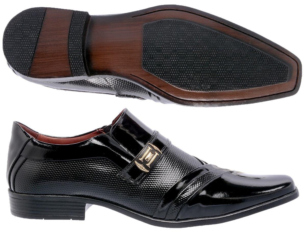 18d688992 sapato social verniz masc. 100% couro lançamento couro moda. Carregando zoom .