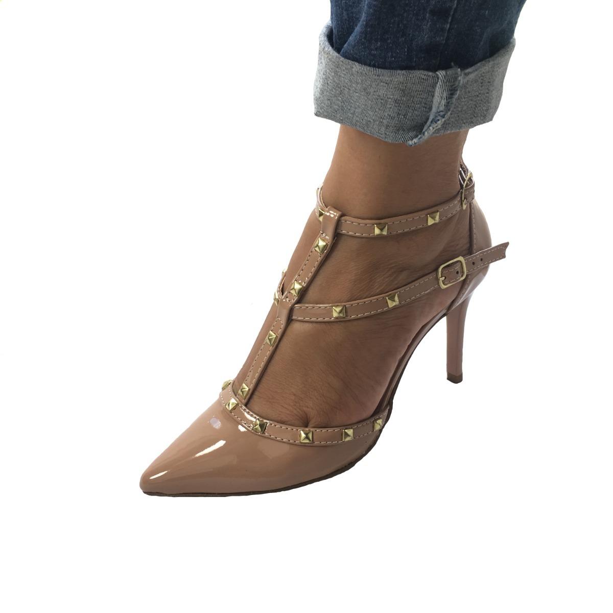 23050da0f sapato spike feminino bico fino festa formatura preto verniz. Carregando  zoom.