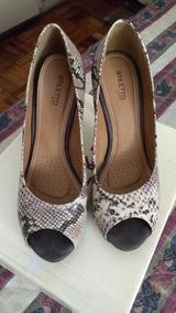 b2f49e527 Sapatos Femininos Em Couro Stiletto - Calçados