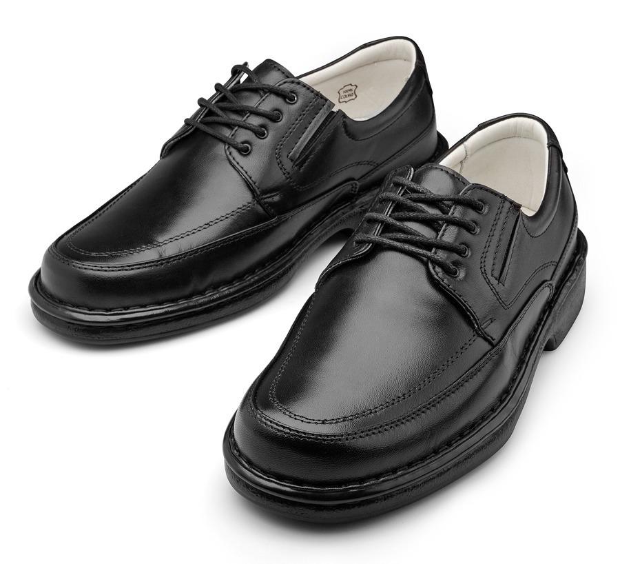 b1046c584e Sapato Super Confort Masculino Ortopedico Couro Legitimo - R  169