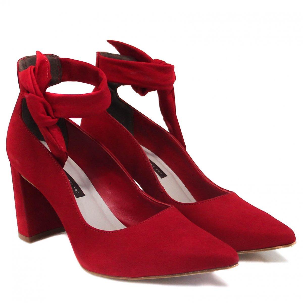 0fd1c544c sapato tanara scarpin couro nó vermelho t2405 | betisa. Carregando zoom.