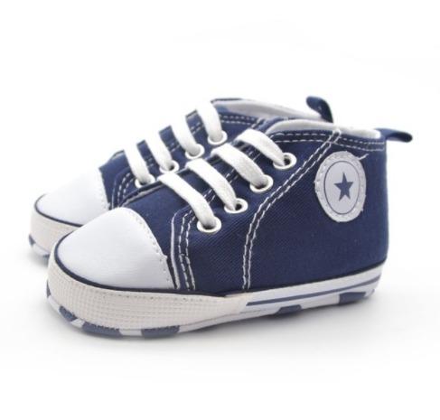 98fcfddce5a Sapato Tenis Bebe Similar All Star Azul Marinho Estrela - R  34