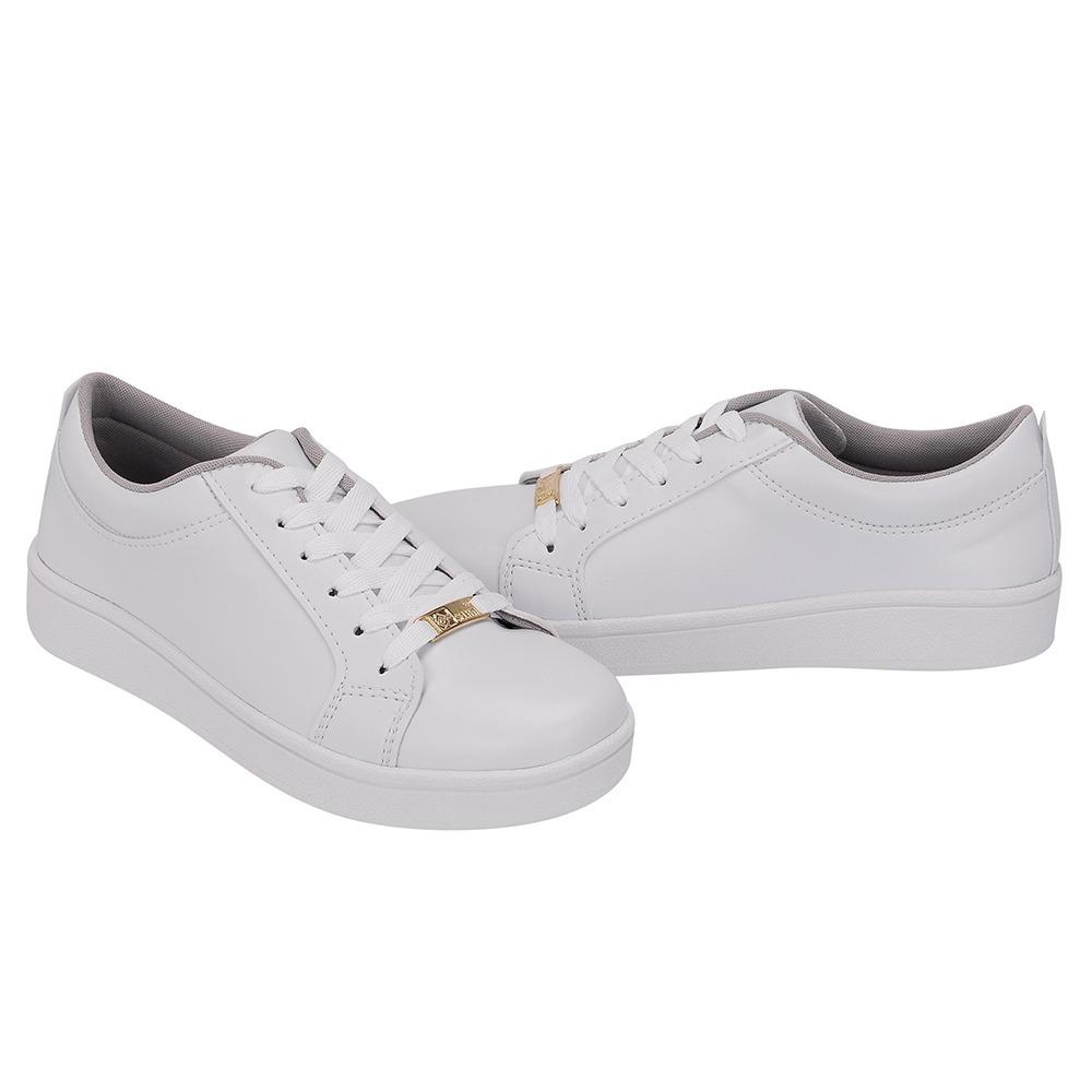 abe1e356c32 sapato tenis casual branco basico liso confort selten 4030. Carregando zoom.