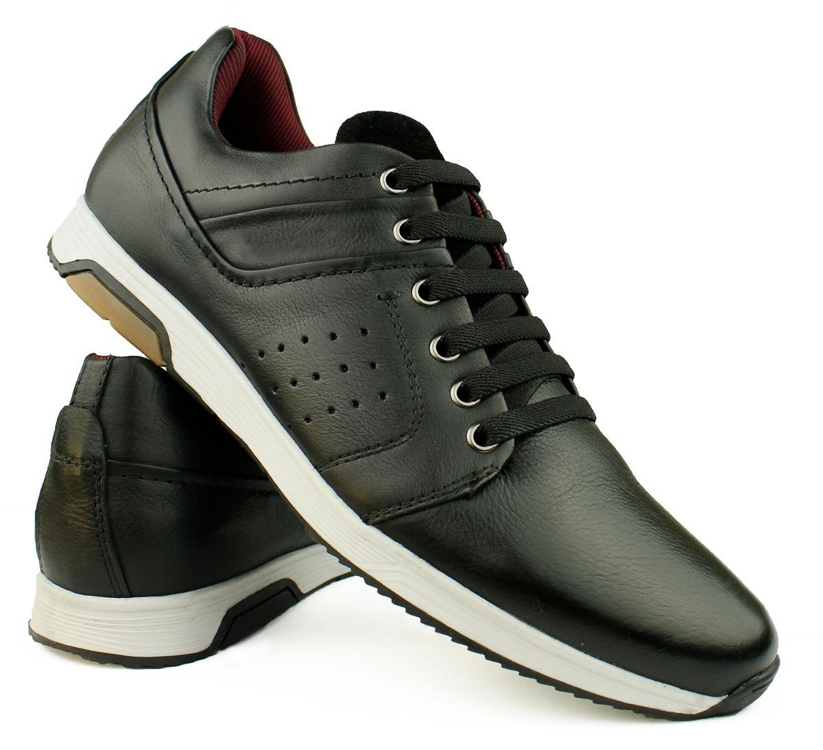 e1f0b4844d sapato tenis casual masculino couro legítimo confortável. Carregando zoom.