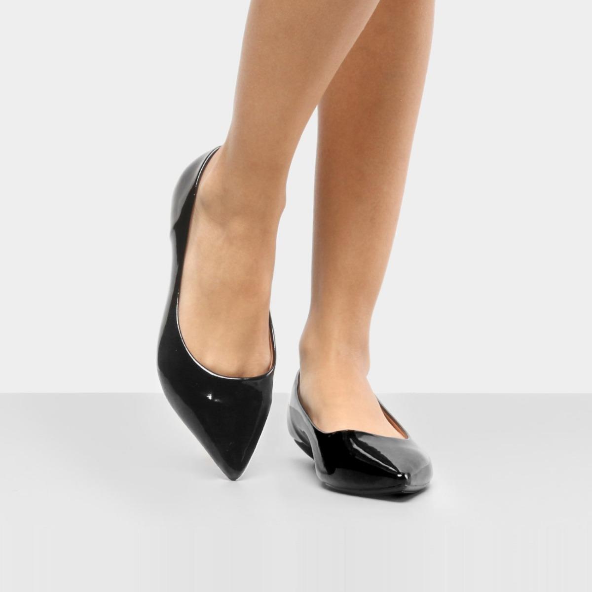 2f6b8850f4b sapato tipo sapatilha bico fino vizzano verniz clássica moda. Carregando  zoom.
