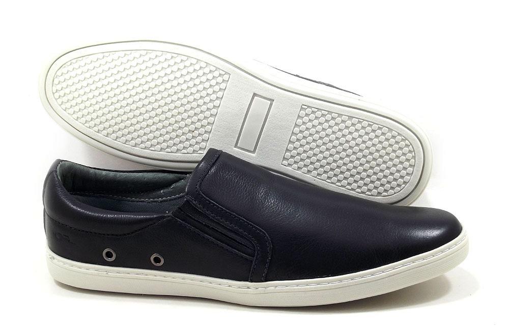655a9a38246 Sapato Tipo Tenis Masculino Sapatenis Iate Em Couro Legitimo - R ...