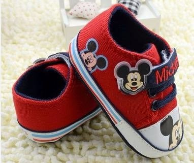 a7453129bd Sapato Tênis Bebê Menino Mickey 2 A 6 Meses Pronta Entrega - R  34 ...