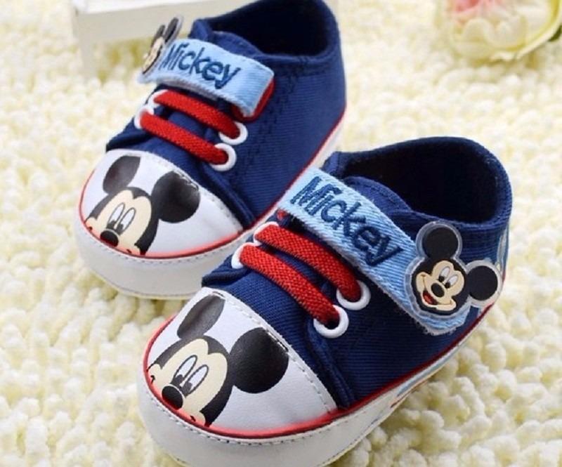 ba68efa0e5 Sapato Tênis Bebê Menino Mickey 6 A 9 Meses Pronta Entrega - R  34 ...