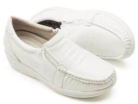 7fa4922538 Sapato Branco Confort Pizaflex Em Feminino - Calçados