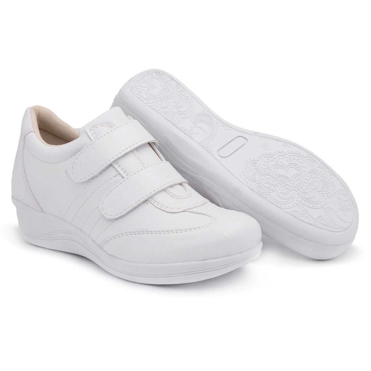 ca556963bf sapato tênis feminino salto anabela confort pés diabéticos. Carregando zoom.