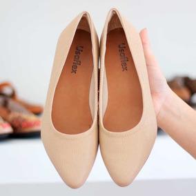 21d344e76 Scarpin Bege Salto Grosso Usaflex - Sapatos com o Melhores Preços no  Mercado Livre Brasil