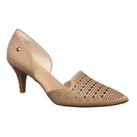 Sapato Usaflex J6452 Couro Scarpin Blush Nude (651)