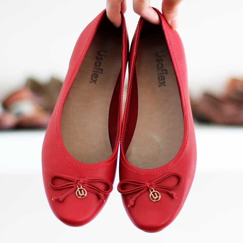 39a18f4d2 sapato usaflex original na cor vermelho. 7506 compre já!!! Carregando zoom.