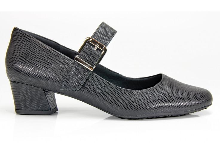 c7c983f82 Sapato Usaflex Preto Boneca Salto Baixo S6559 - R$ 199,90 em Mercado ...