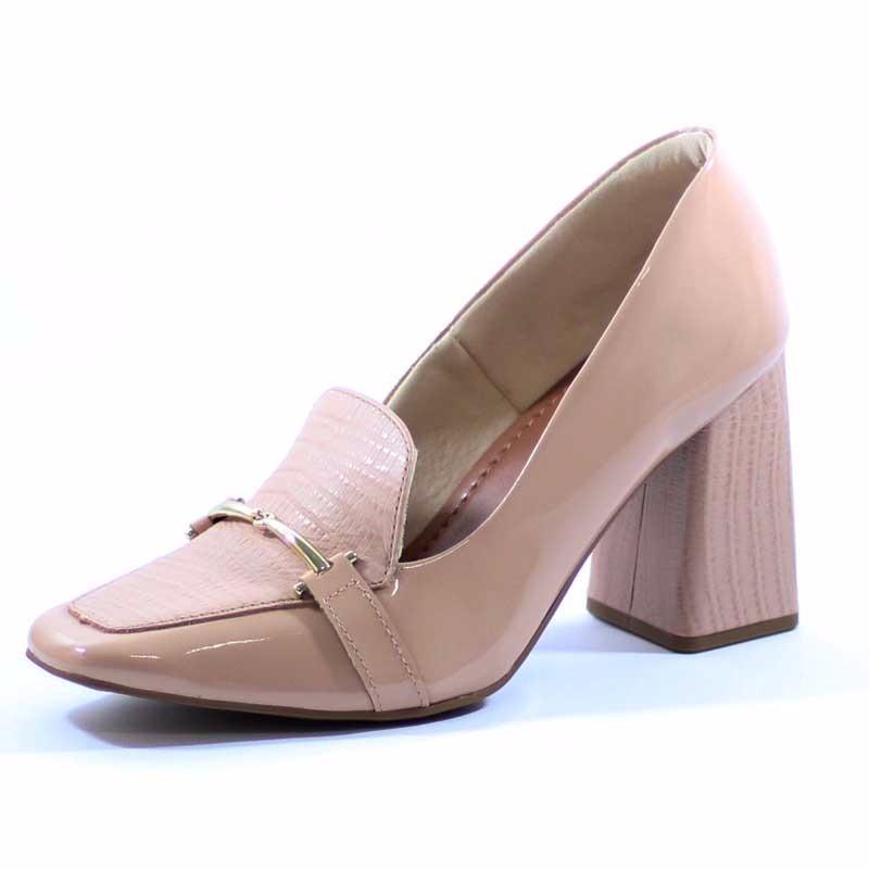 bcf0a3f51 sapato usaflex salto alto grosso estilo confortável 2108. Carregando zoom.