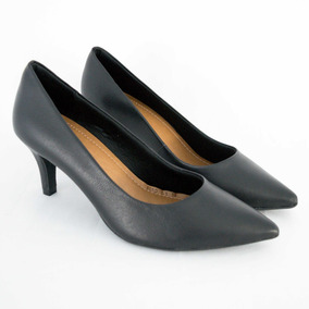 45793fdde5 Sapato Usaflex Z7601 Scarpin Mestiço Preto Islen Calçados