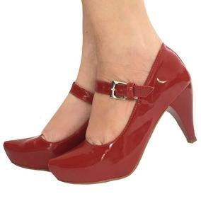 a41a6a4237 Scarpin Salto Baixo Com Tiras Fivela Sola - Sapatos no Mercado Livre ...