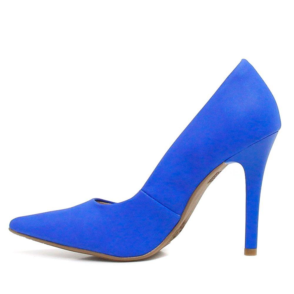 0125aa20a9 Sapato Via Marte Scarpin Verniz Noivas Azul