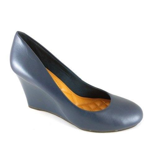 c98f83cdf Sapato Anabela Via Uno Confort Marinho - R$ 89,90 em Mercado Livre