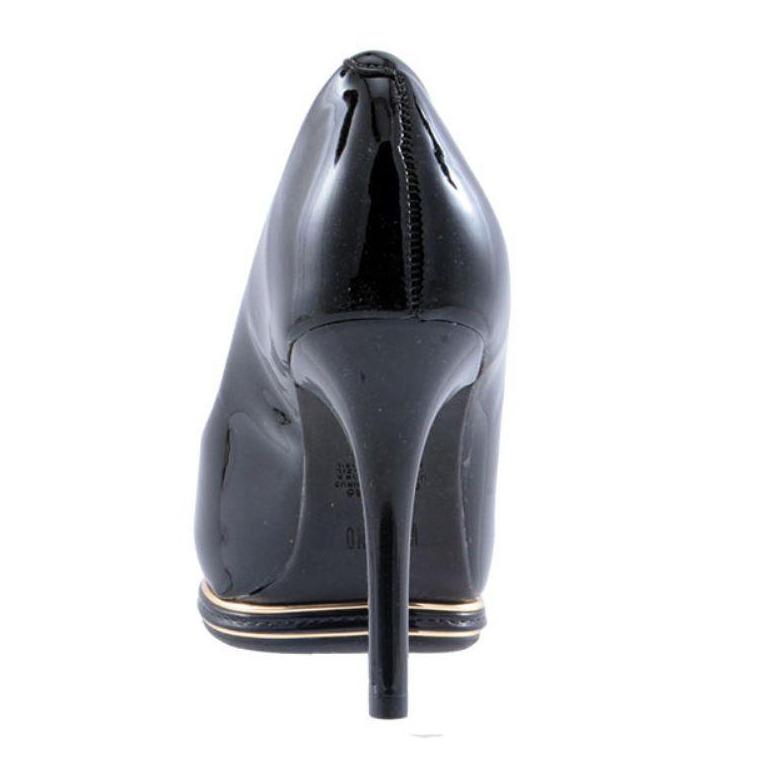 7d0d4db7f8 Sapato Vizzano Peep Toe Verniz Cristal Feminino - Preto - R  120