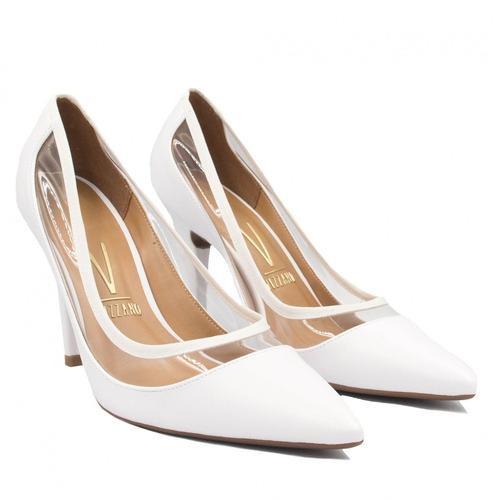 0224cc5a97 sapato de noiva vizzano scarpin vinil branco 1184.186. Carregando zoom... sapato  vizzano scarpin