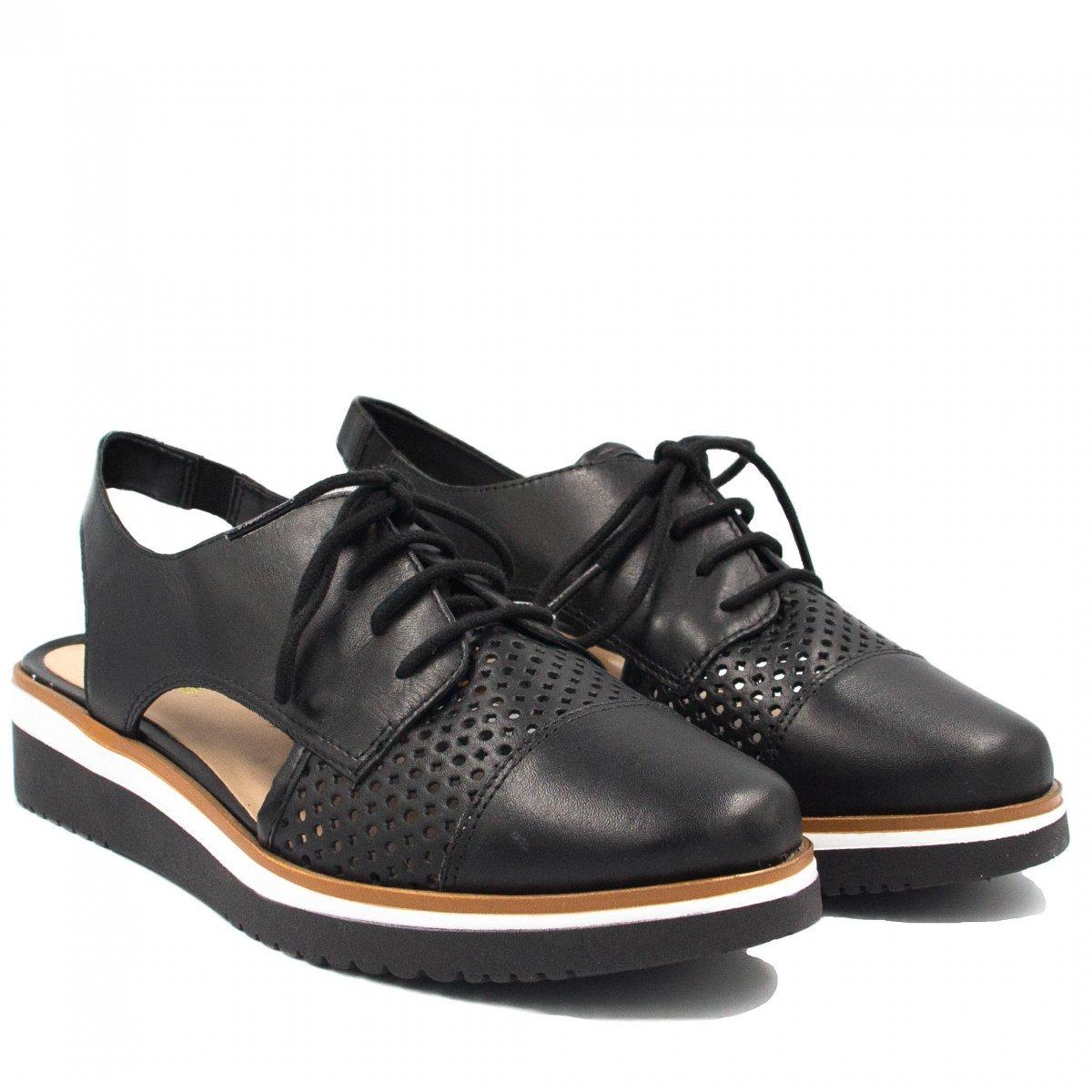 fbbc448ca6 sapato zariff shoes oxford vazado preto 20537a. Carregando zoom.