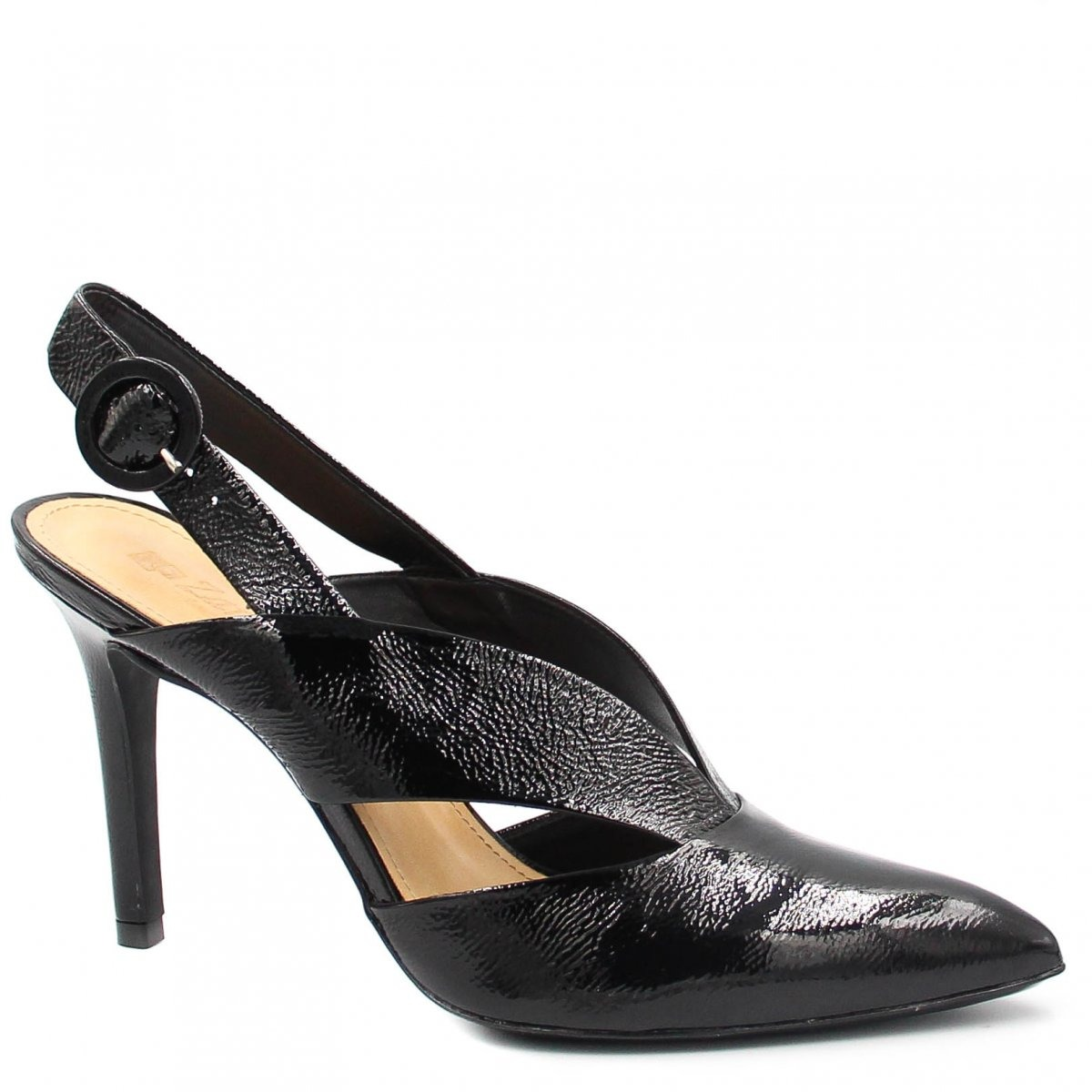 79a89aff43 Sapato Zariff Shoes Scarpin Salto Alto Fivela