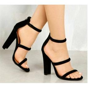 8851cdc87 Sandalias Femininas Salto Grosso Ate 6 Cm - Sapatos no Mercado Livre ...