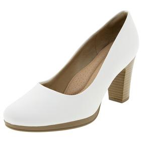 eecda7284 Sapato Feminino Salto Alto Branco Piccadilly - 130185 por Clovis Calcados