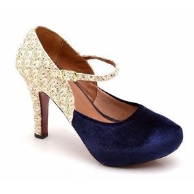 967683af7 Sandalia Penelope Salto Fino - Sapatos Azul marinho no Mercado Livre ...