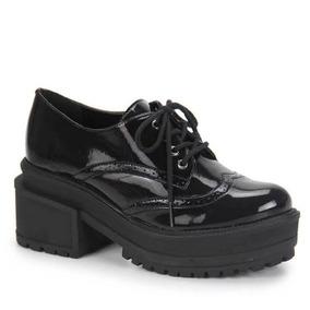 4da299903e Sapato Oxford Feminino Brenda Lee Preto - Sapatos no Mercado Livre Brasil