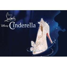 Sapato Cinderela - Loubotin -c/ Renda/strass E Borboletas
