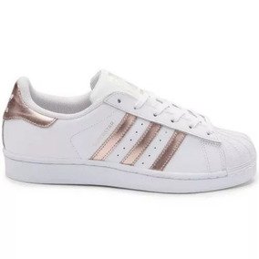 240d44837 Sapatos Casuais adidas Original Superstar Rose Gold Feminino
