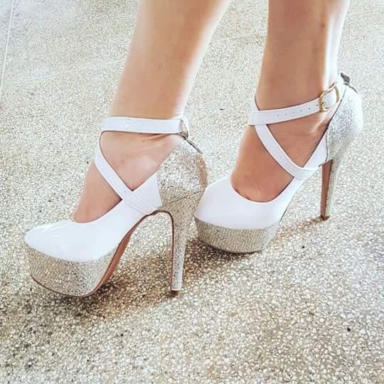 43c96e1867 Sapatos Femininos Plataforma Coleção Noivas Festa Casamento - R$ 238 ...