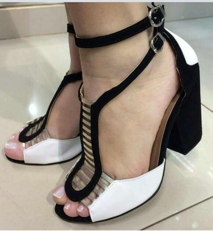 15db95f46 Sapatos Femininos Saltos Alto, Scarpin, Salto Grosso - R$ 130,00 em ...