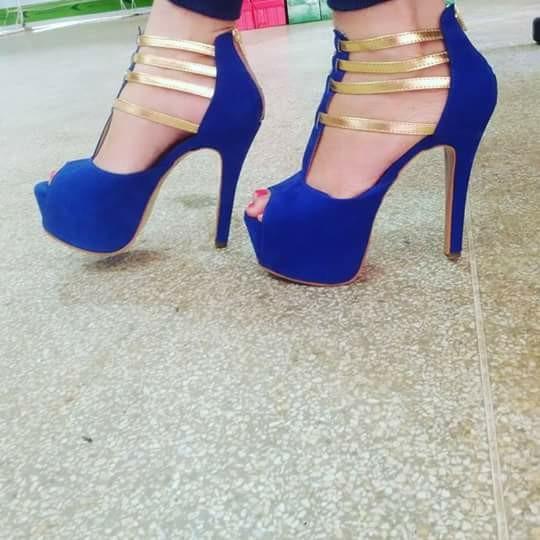 61656f4d24 Sapatos Femininos Sandalia Salto Alto Festa Formatura - R  238