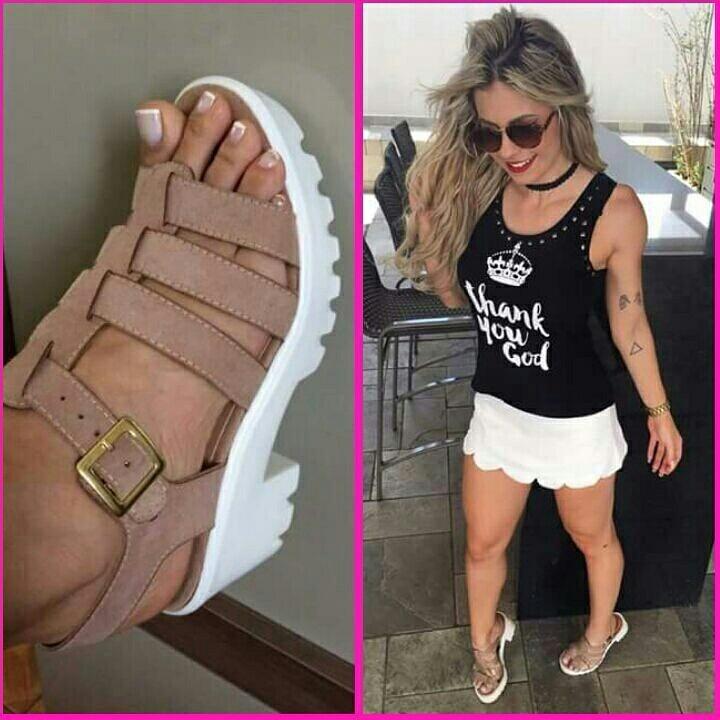 659017736 Sapatos Femininos Sandálias Tratorado - R  195