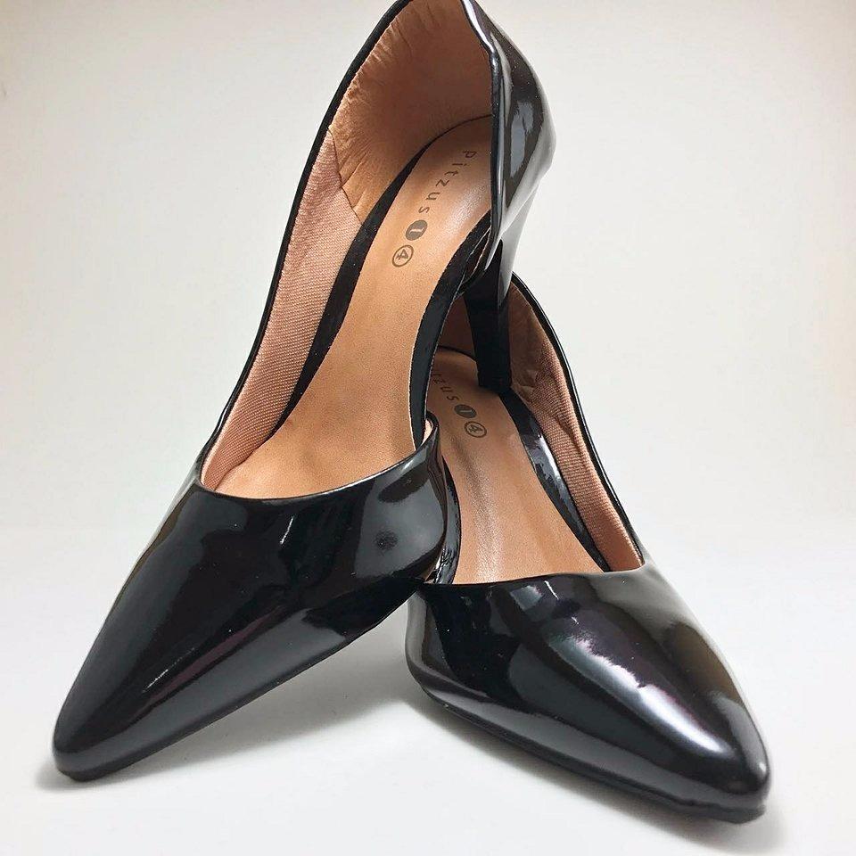 49ddc5dc26 sapatos femininos scarpin salto alto clássico - preto. Carregando zoom.