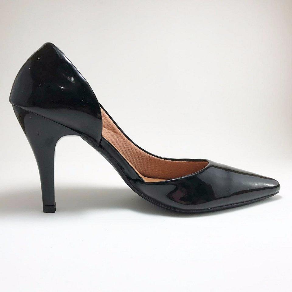945f40cec0 sapatos femininos scarpin salto alto clássico - preto. Carregando zoom.