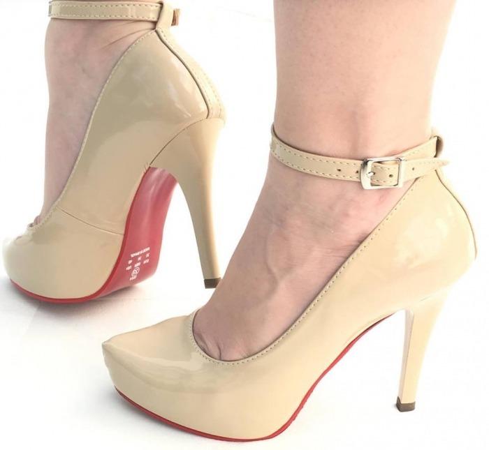 7ba29df267 Sapatos Femininos Peep Toe Salto Alto Salto Fino Meia Pata - R  90 ...