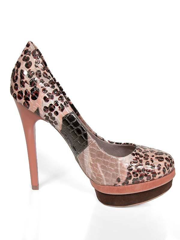 ce77d4e54 sapatos salto alto scarpin onça peep toe aliris (sp190-91). Carregando zoom.