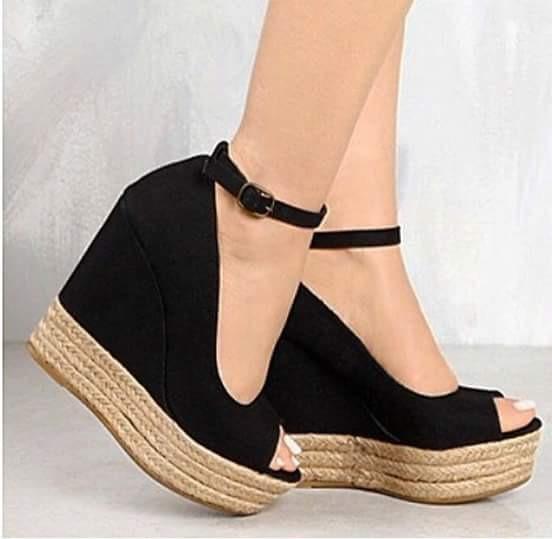 4a644a407 Sapatos Femininos Sandálias Anabela Nobuck Corda Moda - R  238