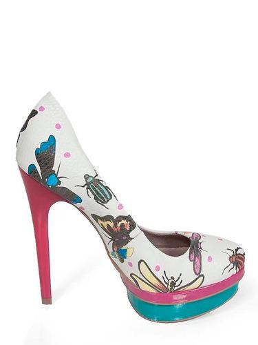 6fc601d5e Sapatos Salto Alto Scarpin Onça Peep Toe Aliris (sp190-91) - R$ 69 ...