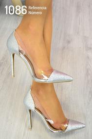 68683f4792 Sapatilha Tipo Scarpin Sem Salto - Sapatos Prateado no Mercado Livre ...
