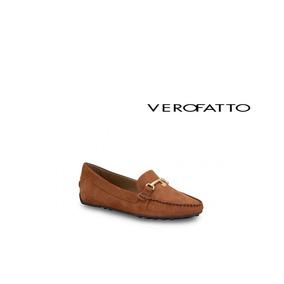 4de8a6e047 Mocassim Feminino Couro Cognac Verofatto - 6013002